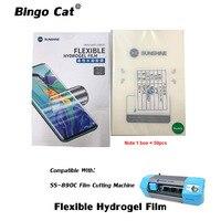 50pcs/lot Sunshine Flexible Hydrogel Film SS 057 For SS 890C Auto Film Cutting Machine Mobile Phone Screen Front Film Cut