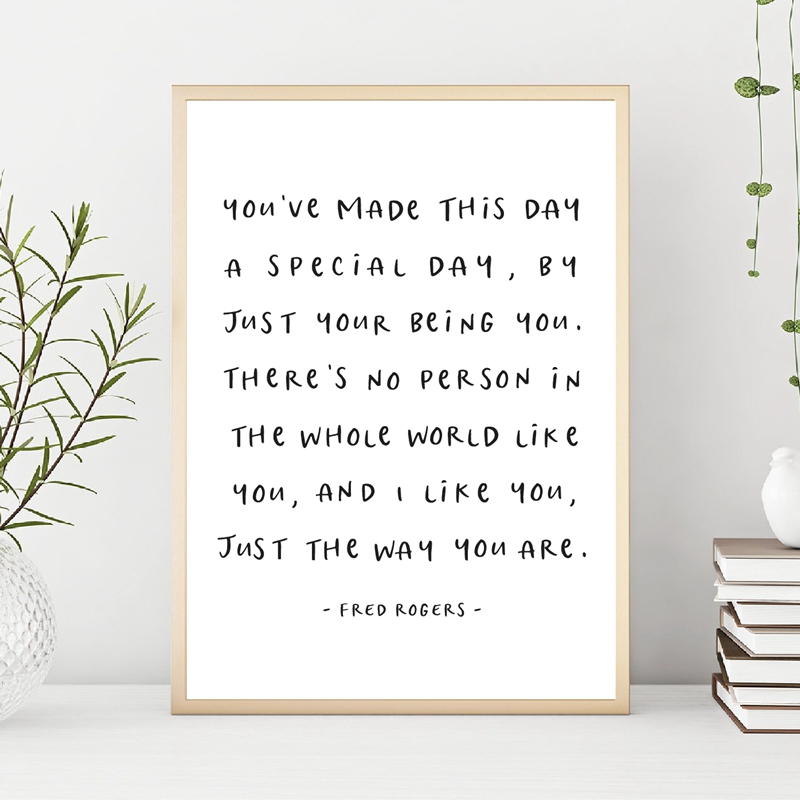 Mr Rogers Quote Print Typography Art Poster Modern Minimalist Wall Art Picture Canvas Painting Home Room Art Wall Decor Painting Calligraphy Aliexpress