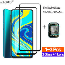 1+2Pcs Full Cover película,Glass Redmi-Note-9S Back Armor Glass Note 9 S Xiaomi Note 9Pro Max Clear Lens Film Note9S accessories(China)