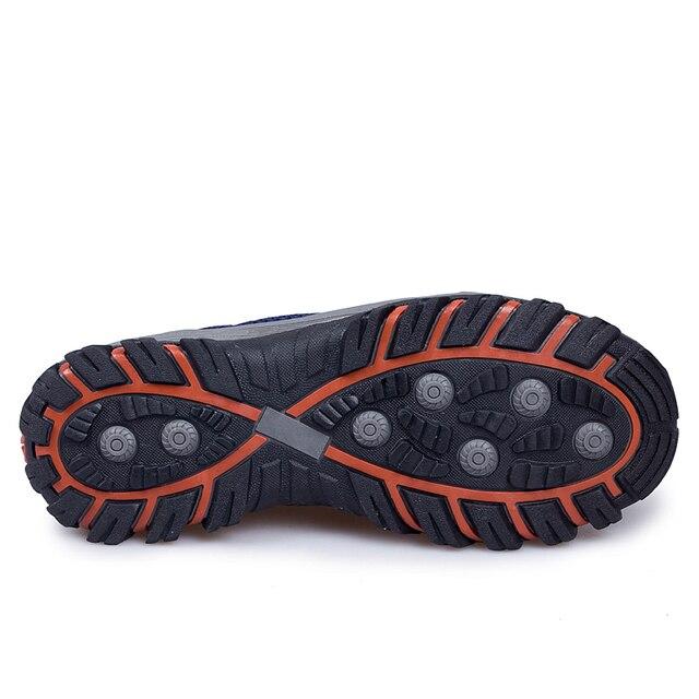 Chaussures de randonnée en plein air dété pour hommes respirant maille escalade Trekking baskets Slip-on colline randonneur baskets chaussures de Sport de montagne