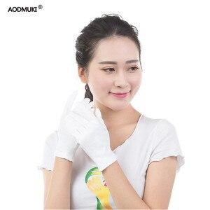 Luvas de algodão reutilizáveis com 12 pares, luvas de segurança de trabalho para hidratação da mão e da mão, secagem fina, eczema, luvas de inspeção de joias