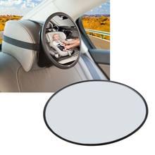 Espejo de coche para coche, vista de coche, asiento trasero, parabrisas ajustable para espacio trasero, Cuidado infantil, Monitor de seguridad redondo para niños