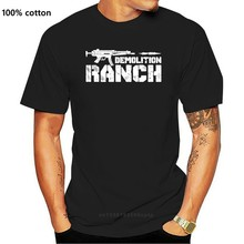 Demolition ranch American rights to bear arms Men t-shirt 100% cotton funny print tshirt men women shirts
