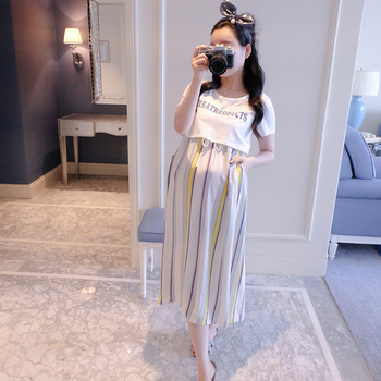 Nursing Dress Loose Spring Summer Maternity Clothes Short Sleeve Dresses Charming Clothes for Pregnant Women Elegant Pregnancy