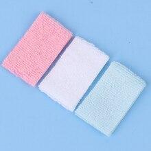 3Pcs 1/12 Mini Bathroom Hand Towel Model Toys Dollhouse Miniature Accessories