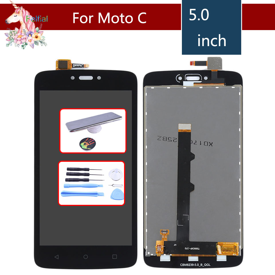 For Motorola Moto C XT1755 XT1750 XT1754 C plus XT1721 XT1722 <font><b>XT1723</b></font> LCD Display Touch Screen Digitizer Sensor Complete Assembly image