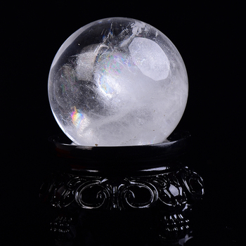 1PC Natural Rock Crystal Quartz Ball Polished Globe Massaging Ball Reiki Healing Stone Home Decoration Exquisite Souvenirs Gift 1