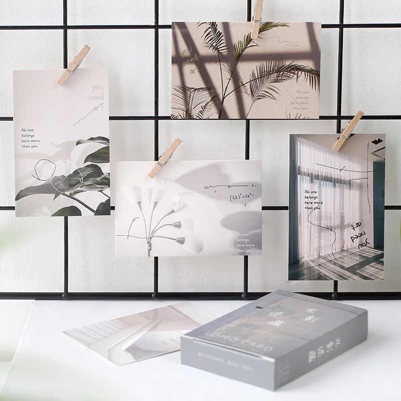 28 unids/lote creativo tarjeta Lomo bonitas tarjetas postales Mini Mensaje de dibujos animados tarjetas de navidad Papelería para estudiantes material escolar de oficina
