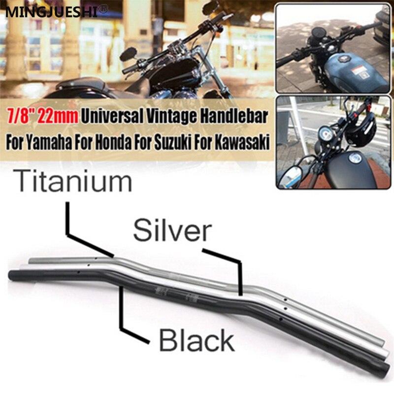 22mm universal moto bicicleta cnc guiador moto r moto liga de alumínio guidão moto scooter retro preto anti-ferrugem