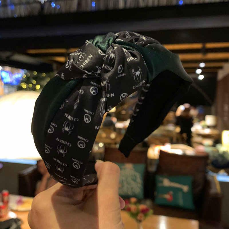ฤดูหนาว Hairband 2019 ใหม่สำหรับแฟชั่นผู้หญิงกว้างผม Hoop Classic Retro Lattice ผม Card Headwear head wrap