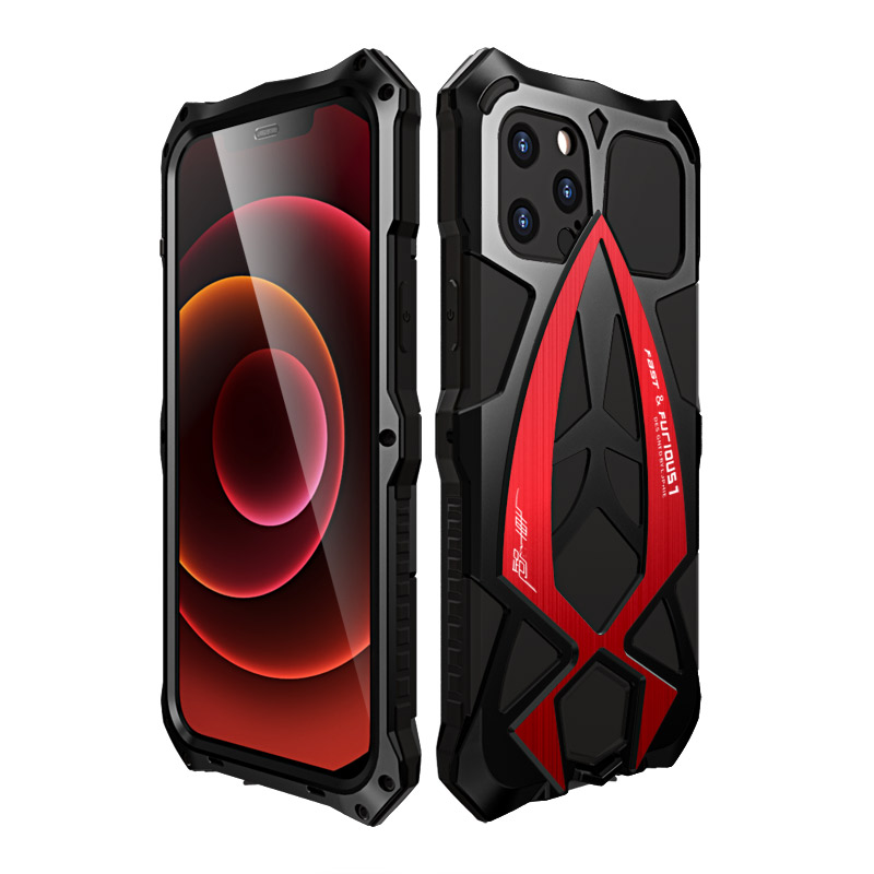 For iPhone 12 Pro Max 12Mini Case,Metal Armor Rosdster Phone Case 360°All Round Coverage Protection Cool Travelling Cover 2