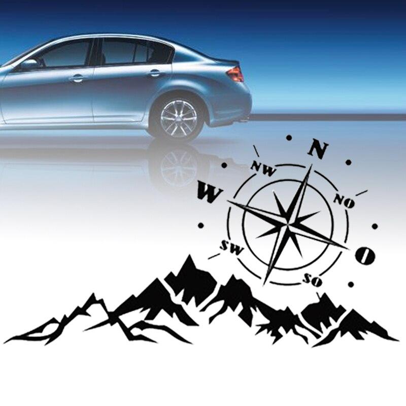 56x30 см 3D Высококачественная Универсальная автомобильная наклейка компас роза навигация горный внедорожник виниловая наклейка не выцветае...