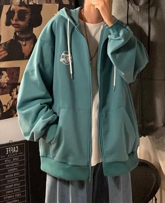 plus velvet zip-up harajuku hoodies streetwear women winter clothes korean style blue tops long sleeve sweatshirt women 1