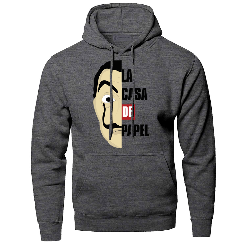 La Casa De Papel Hoodies Movie Hoodie Men Sweatshirt Winter Fleece Pullover Sweatshirts Hoodies Professor Sergio Marquina Hoody