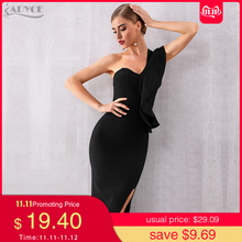 ADYCE Bandage Dress Celebrity Evening-Party-Dresses Vestidos Bodycon Ruffles Sexy One-Shoulder