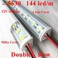 Smarstar 12 в 1 м двухрядный 5630 Светодиодный фонарь угловой алюминиевый корпус молочный прозрачный чехол 100 см V форма алюминиевый профиль светод...