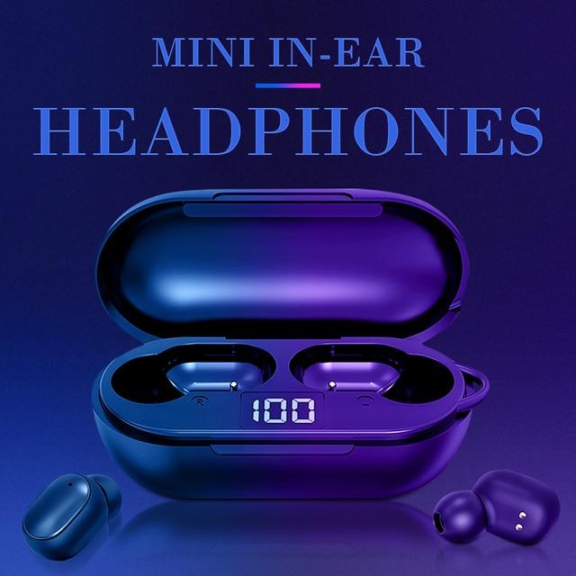 New H6 Wireless Headphones Bluetooth 5.0 Earphone TWS HIFI Mini In-ear Sports Running Headset Support iOS/Android Phones HD Call 1