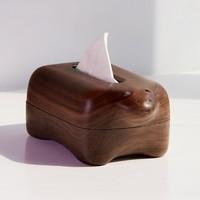 Living Room Household Creativity Crafts Solid Wood Paper Box Napkin Holder Tissue Holder Lovely Polar Bear Walnut Tissue Box
