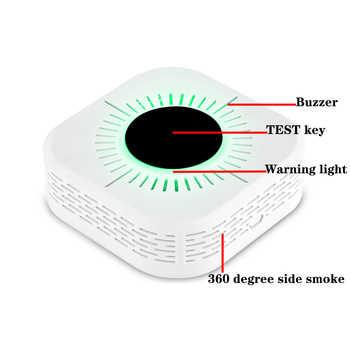 RF 433MHz Smoke Detector Carbon Monoxide Sensor Gas Detector Fire Alarm Smart Life Home Safety Independent Alarm Wireless Alarm