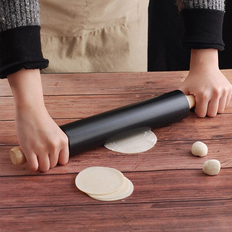 Yapışkan olmayan çelik oklava rulo hareketli un rulo sopa cilt artefakt oklava ekmek sopa