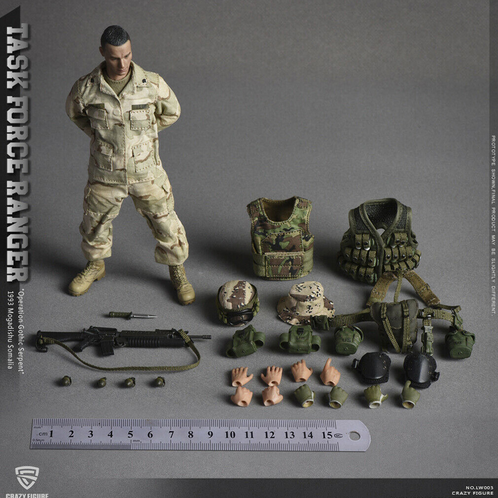 1/12 Crazy Figure LW003 US Miliary Special Force (ASOC) Male Solider Figure Toy