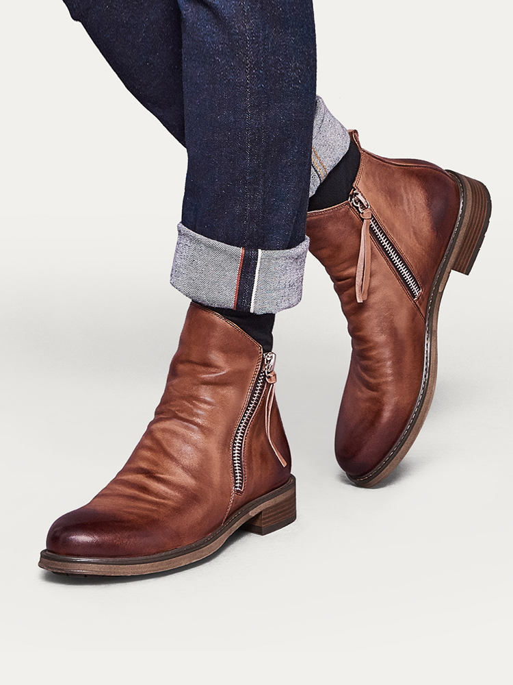 YWEEN Boots Shoes Male Comfy Autumn Casual Original Anti-Slip Men