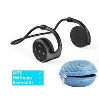 Arikasen Bluetooth cuffie senza fili supporto TF Card Radio FM Mp3 Open Ear HIFI sport auricolari cuffie impermeabili con microfono