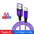 Jetjoy Nylon Braided 5A Surper Fast Charging Type C USB Data Charger Charge Cable Durable For Huawei P30 Pro Wholesale 50 Pcs