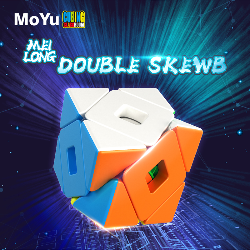 Newest Moyu Meilong Double Twsit SKEW Magic Cube Meilong Double Twisty Neo Cube Toys For Kids