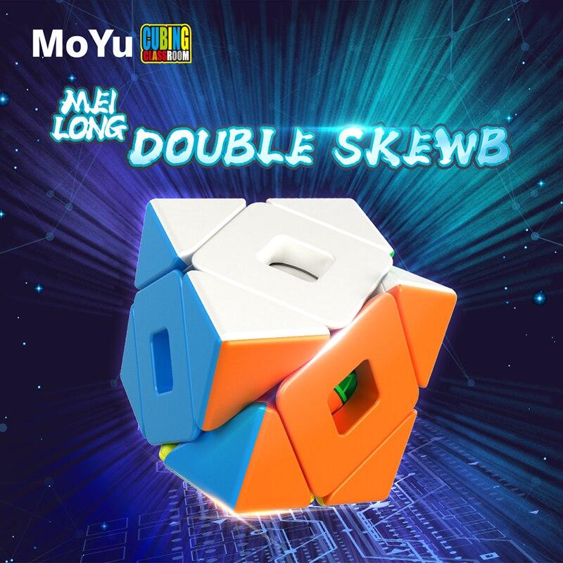 Newest Moyu Meilong Double Twsit SKEW Magic Cube Meilong Double Twisty Neo Cube Toys For Kids