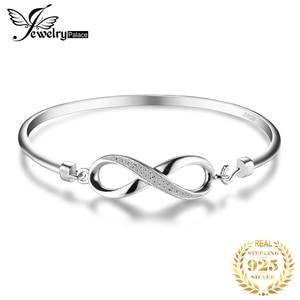 Image 1 - Jewelrypalaceクラウン無限の愛 925 純銀製の腕輪女性のためのシルバー 925 ジュエリーメイキングオーガナイザー