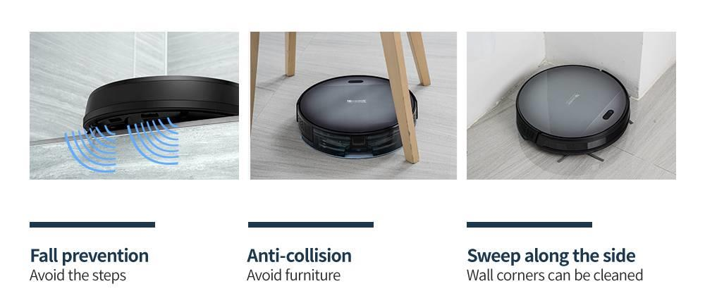 H204a440b4c17461697b9f06802794539Z Proscenic 800T Robot Vacuum Cleaner Automatic Sweeping Dust Mopping Mobile App Remote Control Planned Robotic