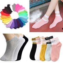 3/5pair Women Socks Breathable Summer Socks Lovely Dot/Stripe Ankle Socks Comfortable Cotton Blend Short Sock Boat Sokken Meias
