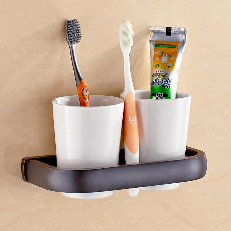 Olej wcierany brąz czarny kwadrat akcesoria łazienkowe półka na ręczniki uchwyt na ręczniki uchwyt na papier toaletowy naścienne zestawy sprzętu do kąpieli