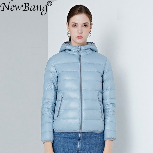 NewBang 4XL Women's Down Jackets Ultra Light Duck Down Women Lightweight Coat Hooded Female Windbreaker Parka Plus Coats
