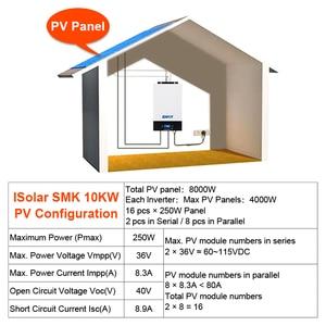 Image 5 - POWLAND Bluetooth 10Kw параллельно инвертор 220V 48v солнечный инвертор MPPT регулятором солнечного Зарядное устройство неэлектрифицирован инвертор синусоидального колебания 80A Батарея Зарядное устройство