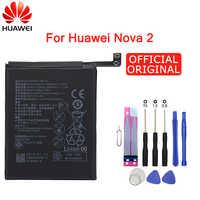 Batterie de téléphone d'origine Hua Wei HB366179ECW 2950mAh pour Huawei Nova 2 Nova2 CAZ-TL00 CAZ-AL10 Batteries de remplacement d'origine