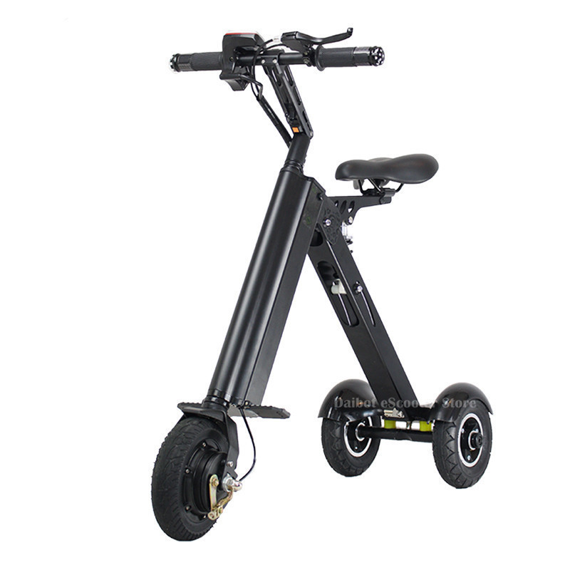 Folding Three Wheels <font><b>Electric</b></font> <font><b>Scooter</b></font> <font><b>Electric</b></font> <font><b>Scooters</b></font> 8'' <font><b>250W</b></font> 36V Portable <font><b>Electric</b></font> Bikes Adults With Double Absorber image