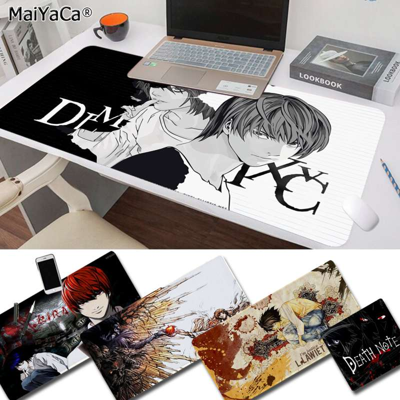 MaiYaCa Funny Death Note Office Mice Gamer Soft Mouse Pad Rubber PC Computer Gaming Mousepad