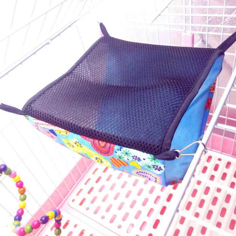 Double Layer Hewan Peliharaan Tikus Hammock untuk Parrot Kandang Kelinci Gantung Hangat Bedswing Rumah Mainan Cage Menggantung Ayunan Bermain Mainan