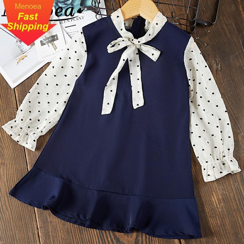 Menoea meninas vestido 2020 novo estilo crianças roupas vestido de verão sem mangas oco halter crianças arco bebê princesa vestido