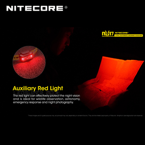 Image 5 - Micro Usb Oplaadbare Nitecore NU17 Triple Output Ultra Lichtgewicht Beginner Koplamp Ingebouwde Li Ion Batterij