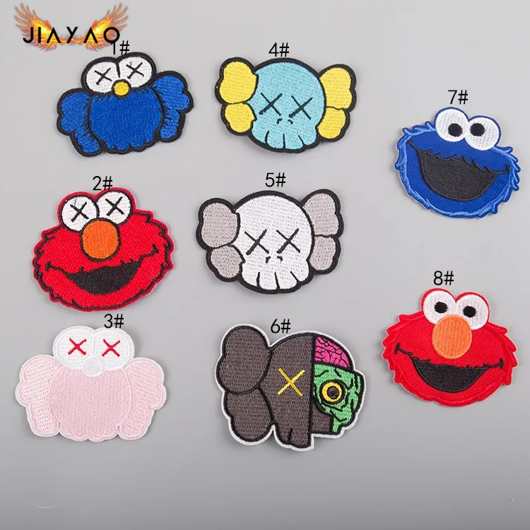 Cute embroidery patch a variety of cartoon doll avatar patch embroidery cartoon DIY thermo adhesive clothing stickers in Patches from Home Garden