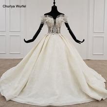HTL1172 princess cut wedding dresses off shoulder crystal beading pearl lace up plus size wedding gown vestido de novia bohemio