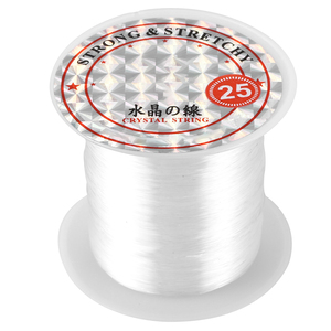 41Lbs Capacity 0.5mm Diameter Clear Nylon Fishing Line Cord Spool