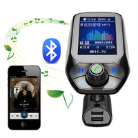 سيارة مشغل MP3 بلوتوث المزدوج USB تهمة سيارة اليد خالية جهاز إرسال موجات FM للسيارة QC 3.0 شاحن 12 فولت المقبس لشاحنة شاحنة SUV