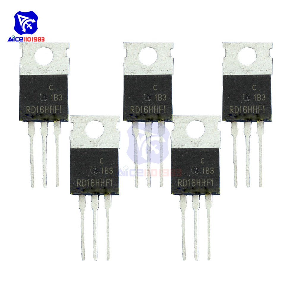 diymore 5 PCS/Lot IC Chips RD16HHF1 3 Pin TO-220 Mosfet Transistor 30 <font><b>MHz</b></font> High Quality Integrated Circuit image