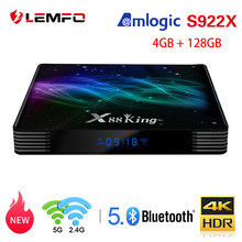 LEMFO X88 King Smart tv Box Android 9,0 Amlogic S922X Mali-G52 MP6 4GB 128GB KODI 18,1 Dual Wifi BT5.0 1000M 4K телеприставка(China)