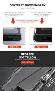 Съемный кристально прозрачный чехол для ПК Для Nintendo Switch NS NX жесткий однотонный чехол для задней панели чехол оболочки Coque ультра тонкий мешок