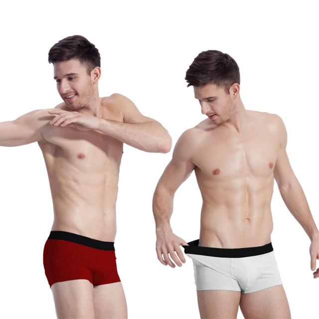 Calzoncillos Boxer de algodón para hombre, Boxers sólidos transpirables, Boxers para hombre, calzoncillos boxer para hombre, 5 unids/pack